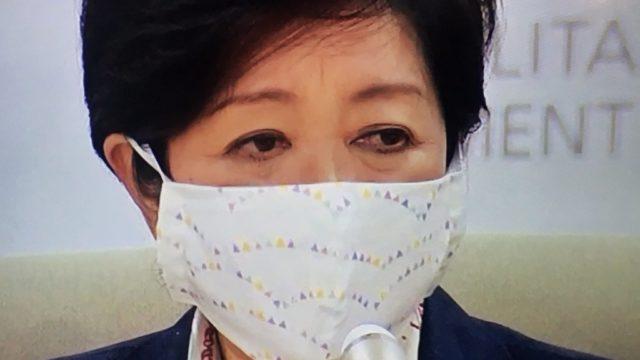 小池百合子 マスク 大きい 逆 反対 可愛い